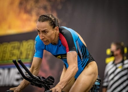 Ironman world champion Anne Haug at SLT Arena Games for Super League Triathlon